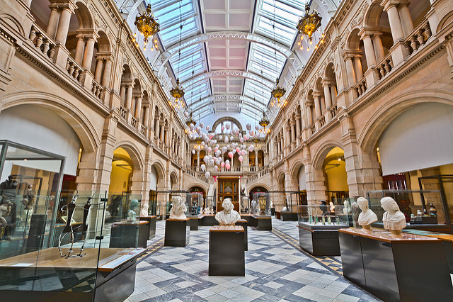 Kelvingrove Art Gallery and Museum in Glasgow Scotland