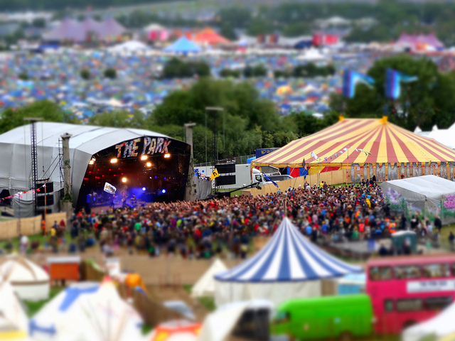 The Park Stage, Glastonbury by Andrew Egerton